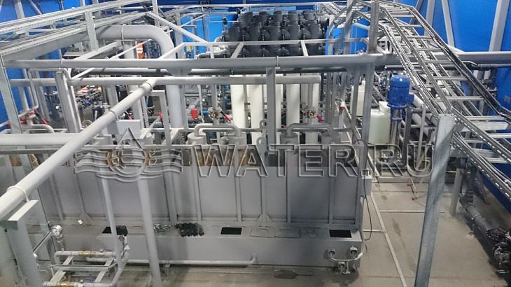 общий вид системы водоподготовки производительностью 63м3/ч